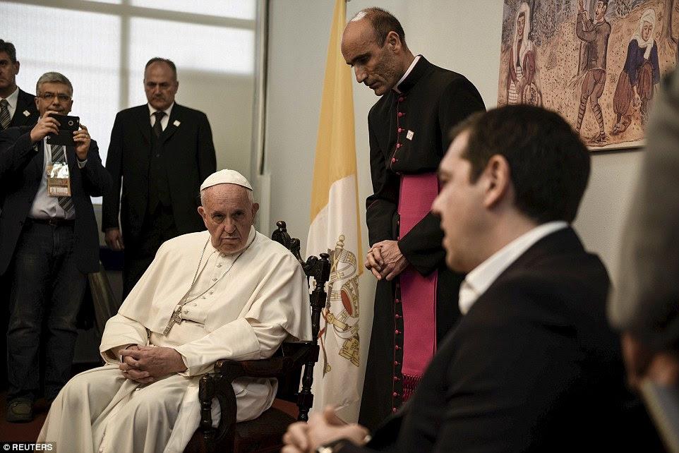 Αποτέλεσμα εικόνας για TET A TET POPE AND TSIPRAS