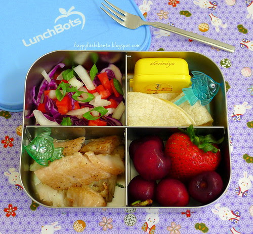 Deconstructed Fish Tacos LunchBot Quad Bento by sherimiya ♥