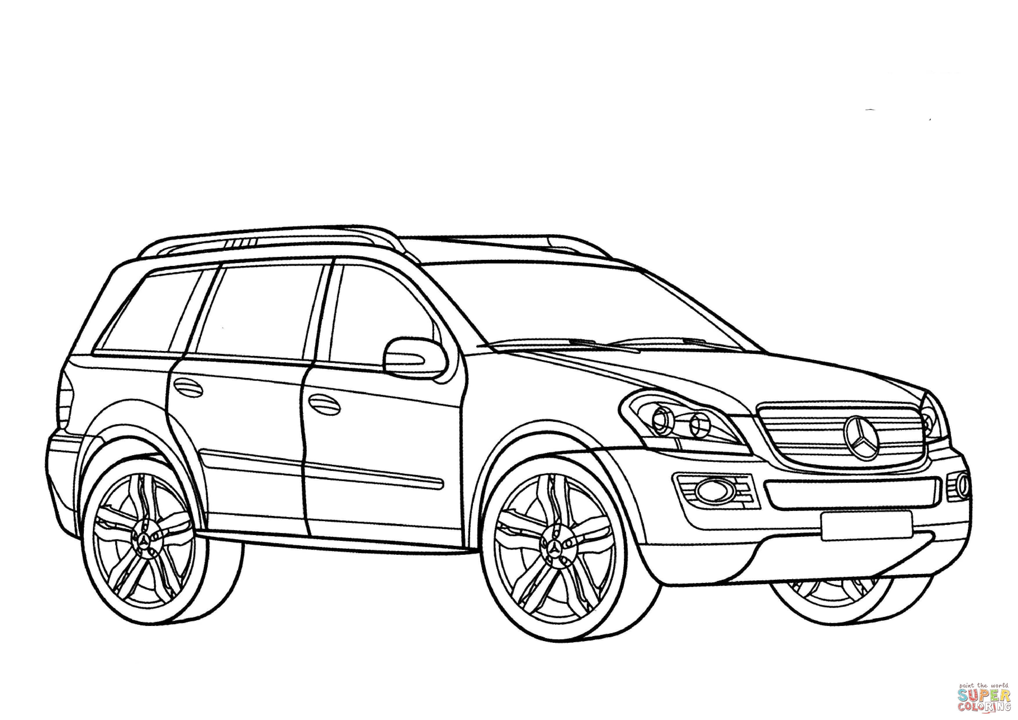 Kleurplaten Auto Mercedes.Auto Kleurplaat Mercedes