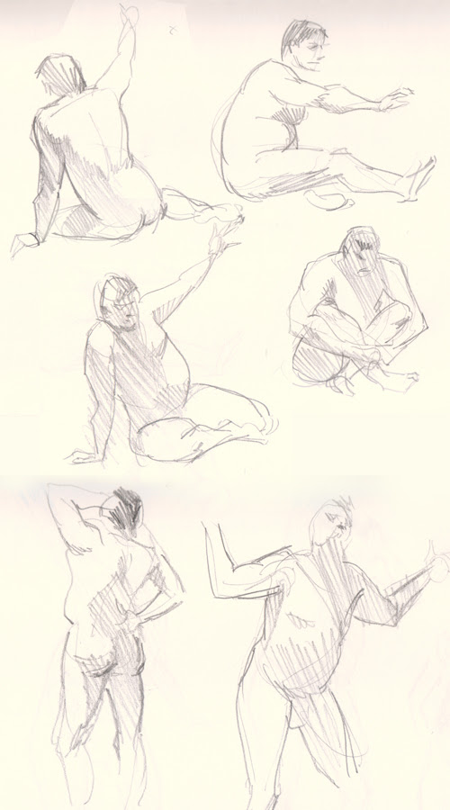 figure drawing male gesture