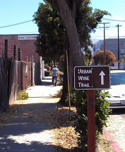 Urban Wine Trail Sign