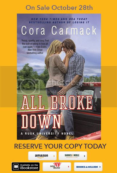 "Cover Reveal: ""All Broke Down"" by Cora Carmack"