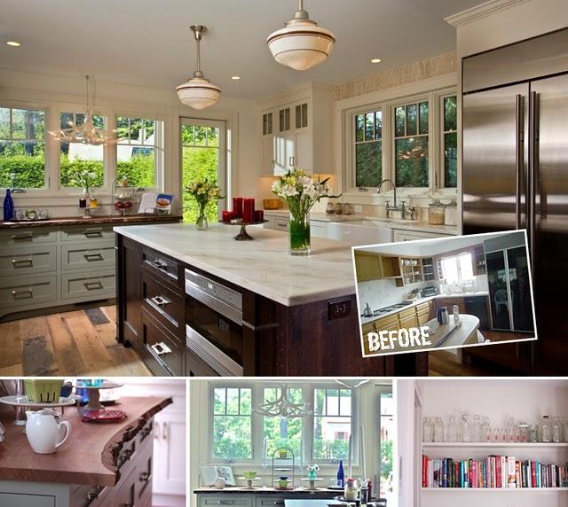 Real Rooms: V & Chris' Gorgeous Lake House Kitchen