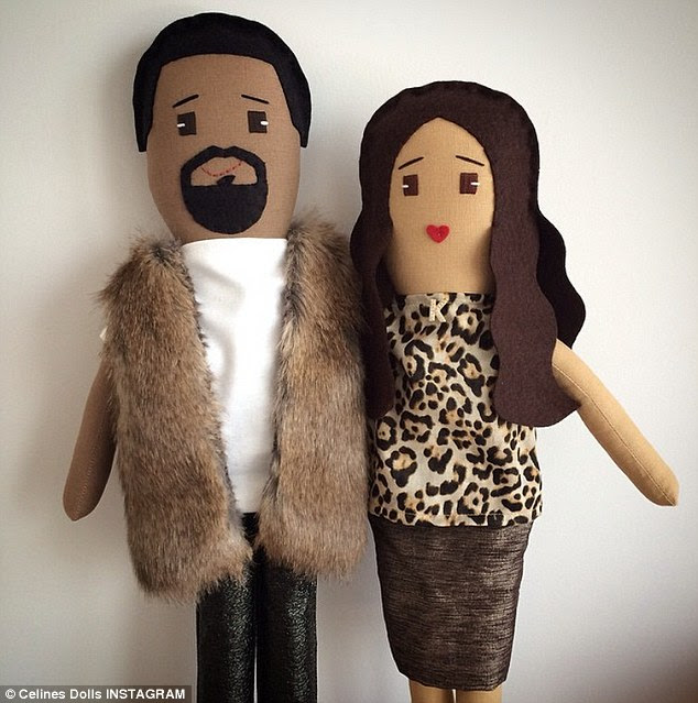 What an endorsement: After Khloe shared the toy picture on her Instagram on Friday, Brooklyn based doll-makers Celine's took to their own account to show-off the creations