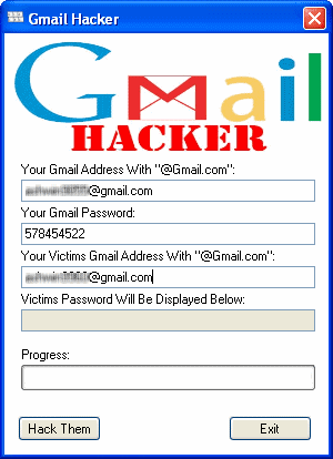 easy way Hacking Gmail Account Password using Gmail Hacker Software