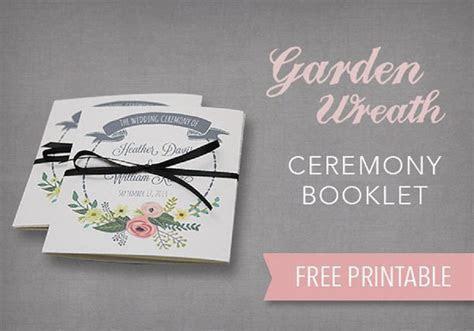DIY Tutorial: FREE Printable Ceremony Booklet   Wedding