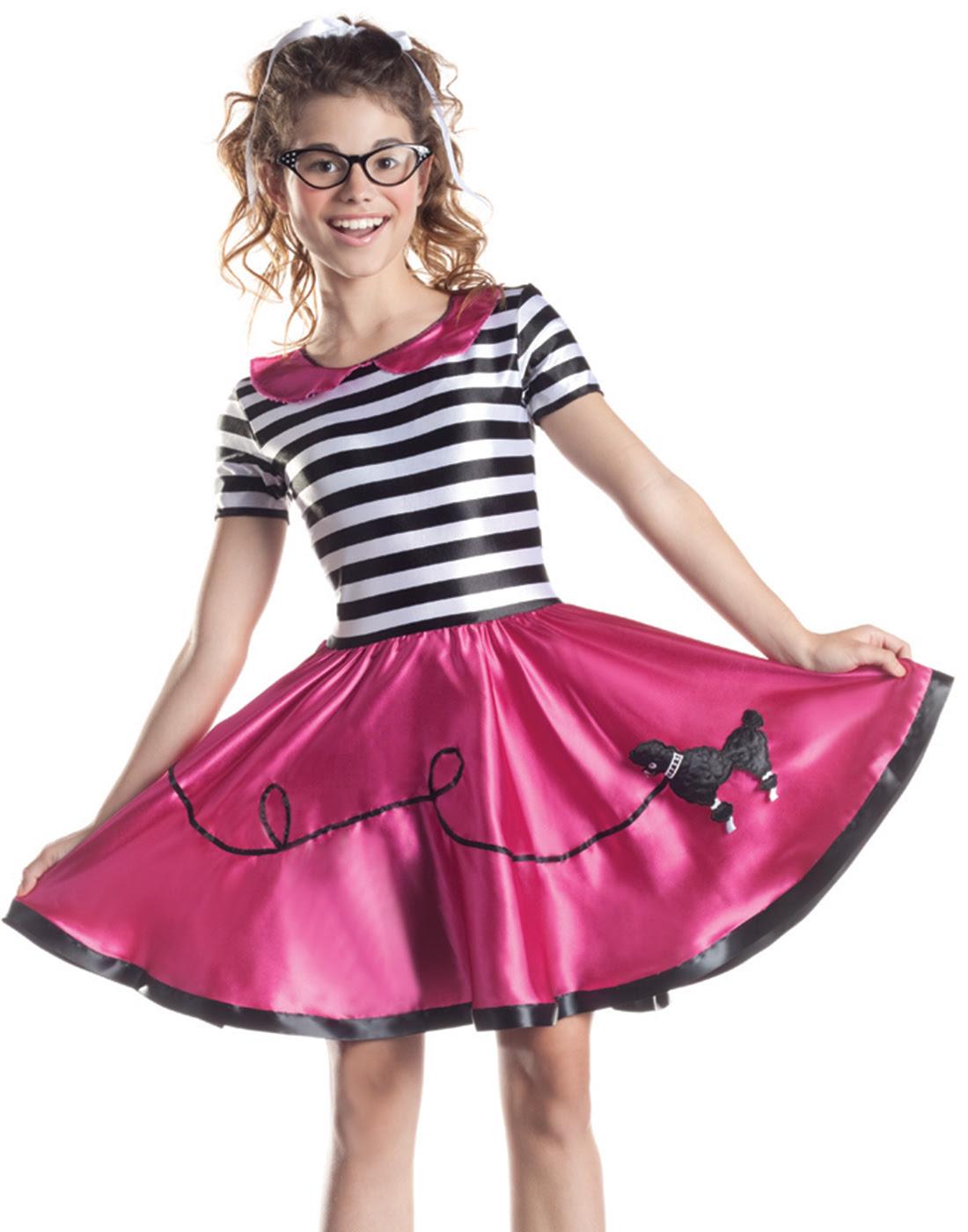 poodle skirt 1950's grease car hop girls fancy dress