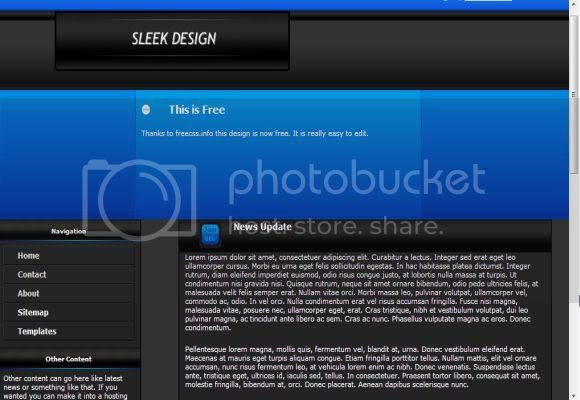 CSS Free Blue Black Template