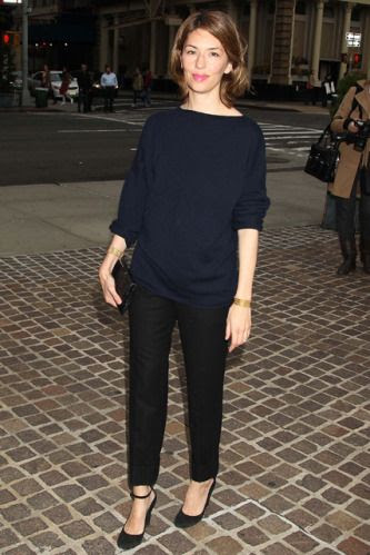 Casual black and navy always chic