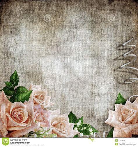 Wedding Vintage Romantic Background With Roses Stock Photo