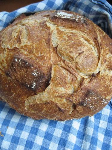 tender potato bread in romertopf