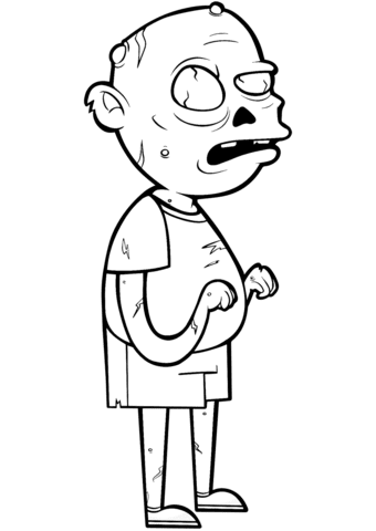 850 Top Cartoon Zombie Coloring Pages Images & Pictures In HD