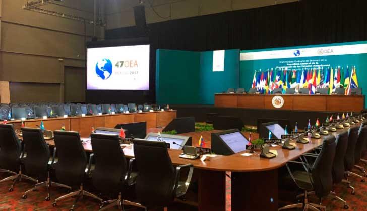 Por segunda vez los cancilleres de la OEA no lograron consensuar una declaración sobre Venezuela. Foto: @OEA_oficial