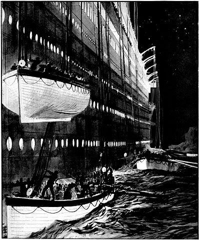 http://commons.wikimedia.org/wiki/File:Leaving_the_sinking_liner.jpg