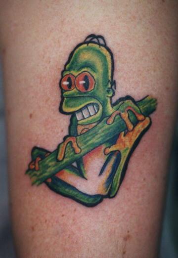 Homer simpson tattoos for Homer simpson vagina tattoo