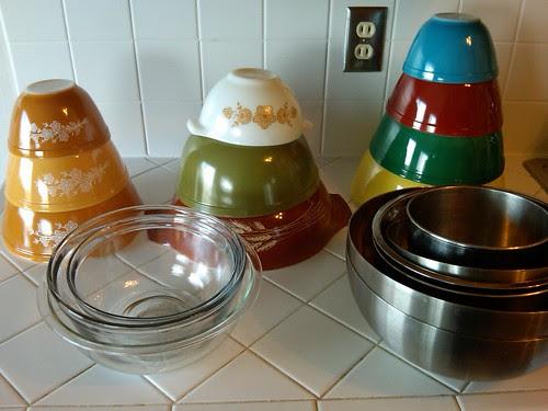 My mixing bowls