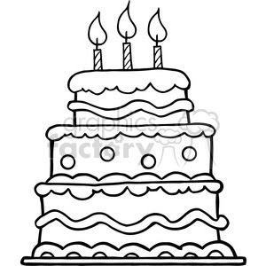 11 Birthday Cake Clipart Black And White Free Clip Art
