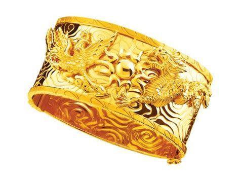 Gold 916   Dragon and Phoenix bangle   Chinese Wedding