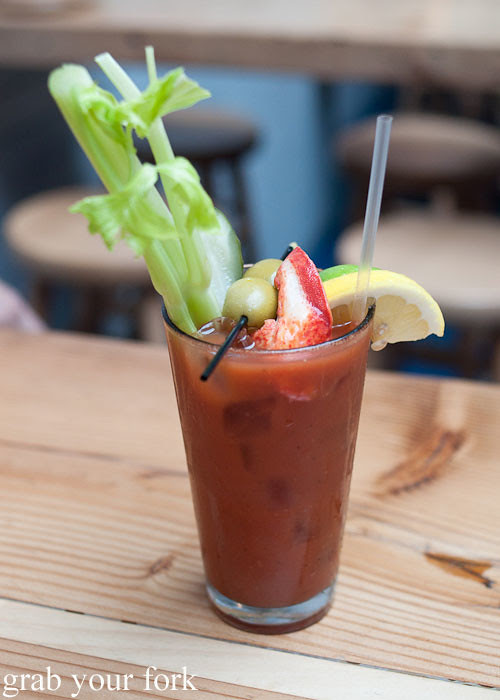 lobster claw bloody mary at lobster joint new york nyc lower east side