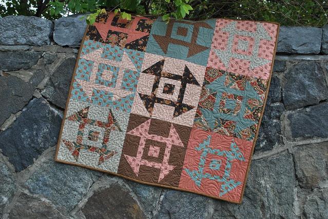 Modern Churn Dash Quilt Pattern by Sweet Jane