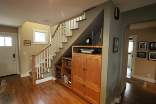 Under stair storage traditional staircase