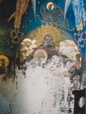 Votive painting by Artur Verona in the tomb of Prince Mircea - Photo ©Valentin Mandache