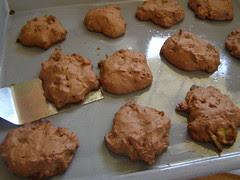 chocloate pumkin cornflake drop cookies