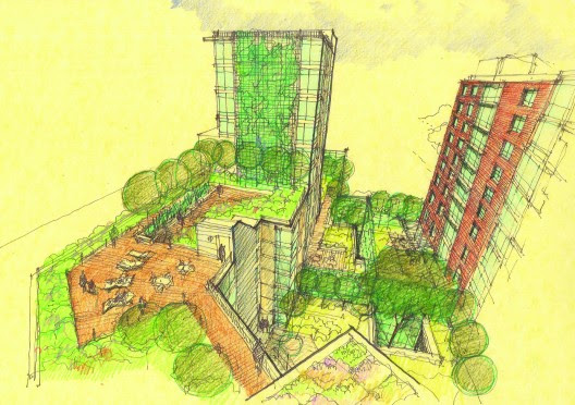 arquitectura, Melrose Commons Site - MAP