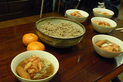 New Year soba is served