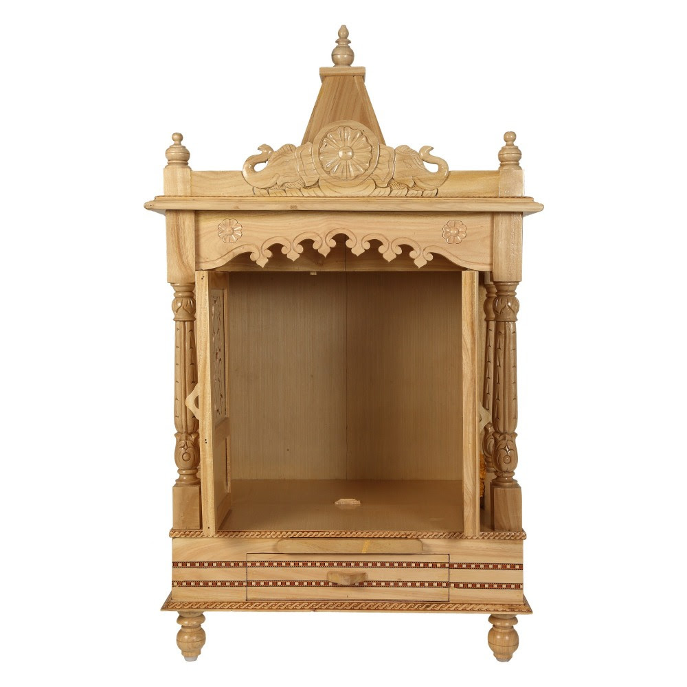 Sevan Wooden Mandir For Home Pooja Puja 22lx15 Sw152240 Sevan