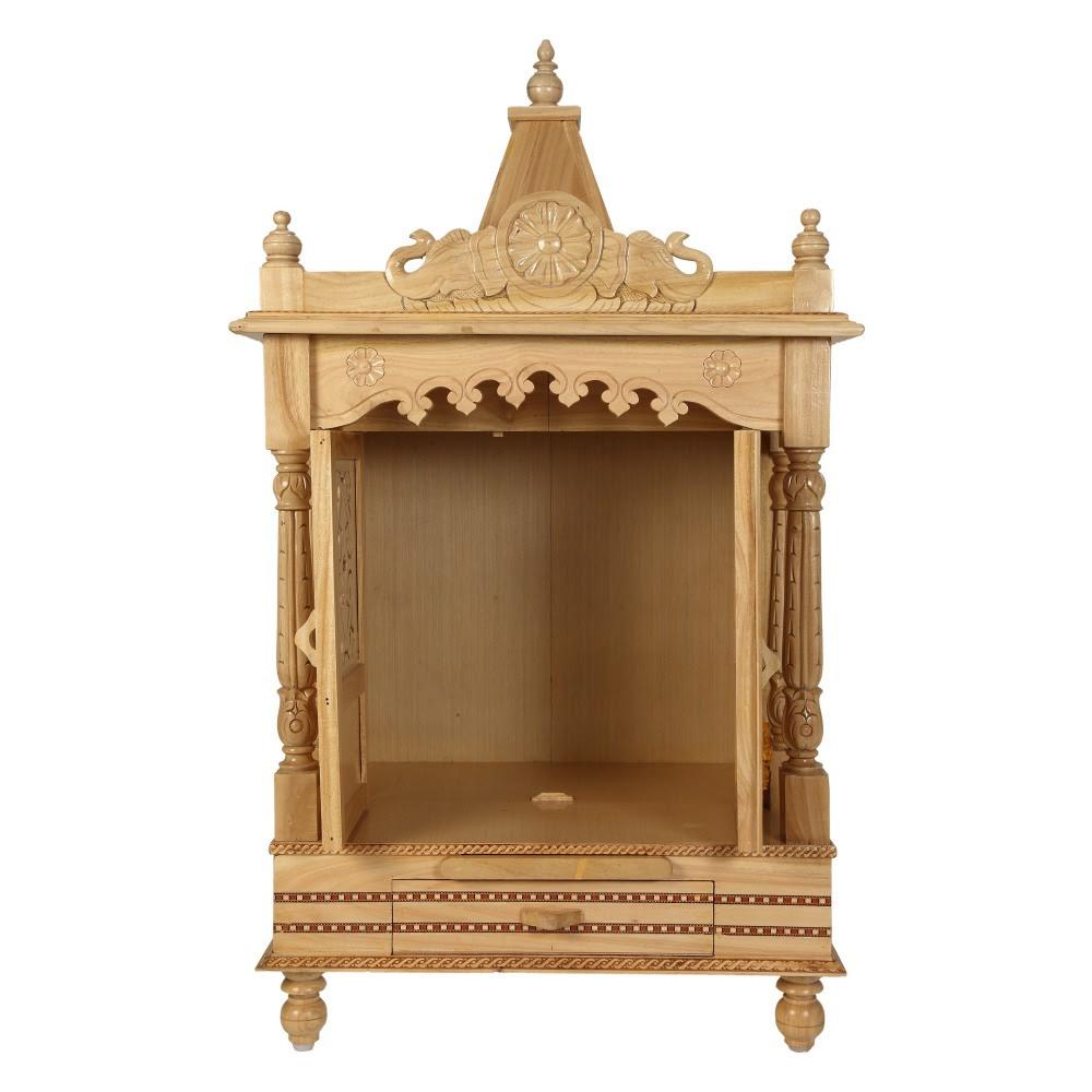 Sevan Wooden Mandir For Home Pooja Puja 22lx15 Sw152240 Sevan