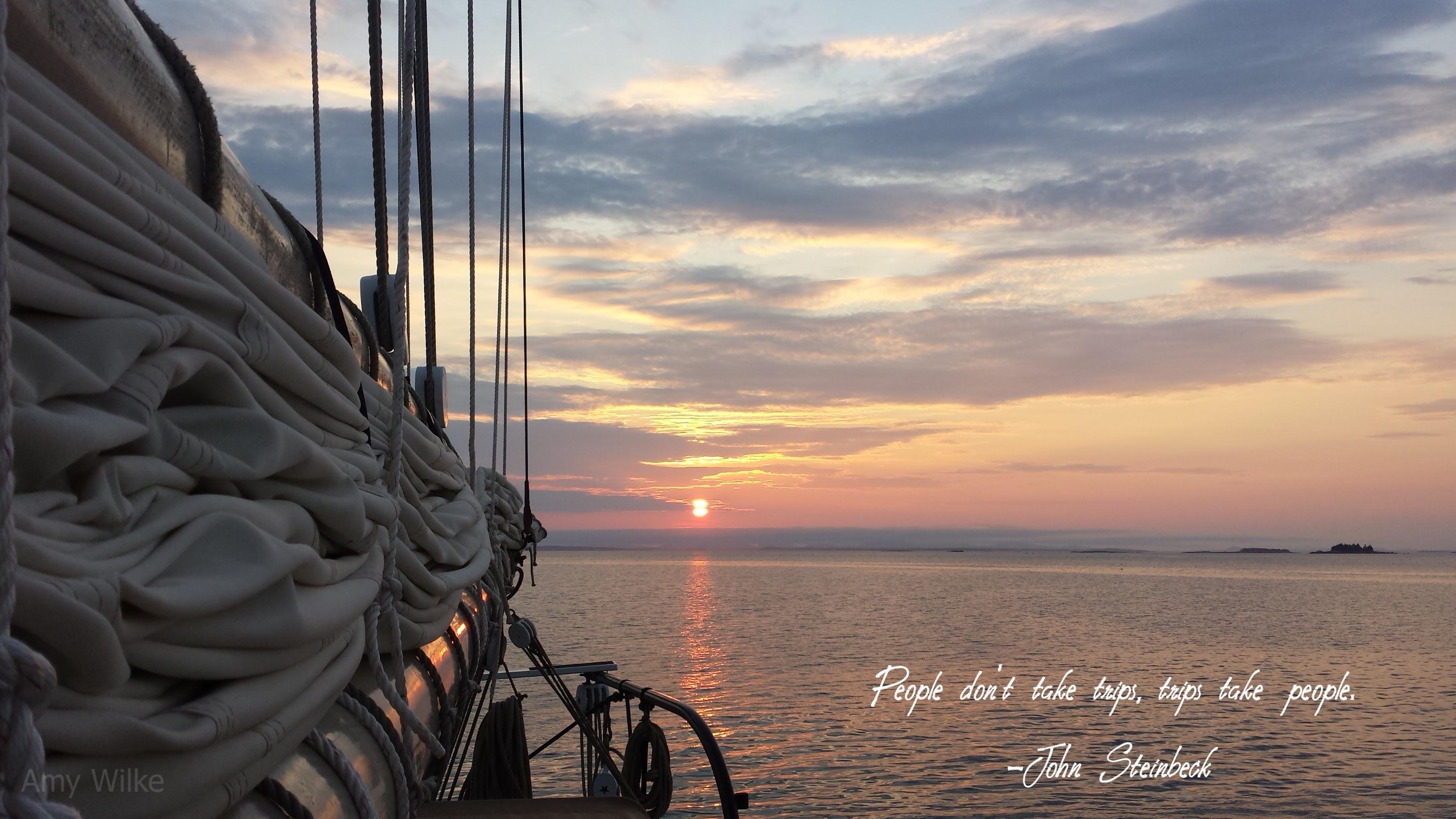 Ocean Love Quote Maine Windjammer J E Riggin
