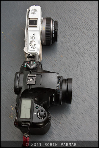 Pentax K20d with FA43 Limited / Olympus E-P1 with Panasonic Lumix 20mm