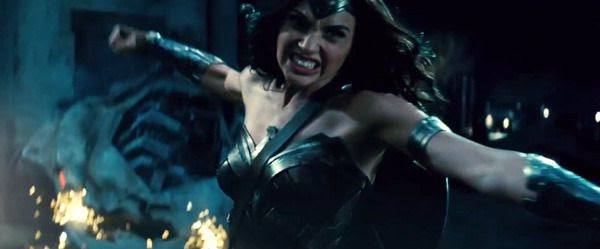 Wonder Woman charges into battle in this scene from the BATMAN V SUPERMAN: DAWN OF JUSTICE Comic-Con trailer.