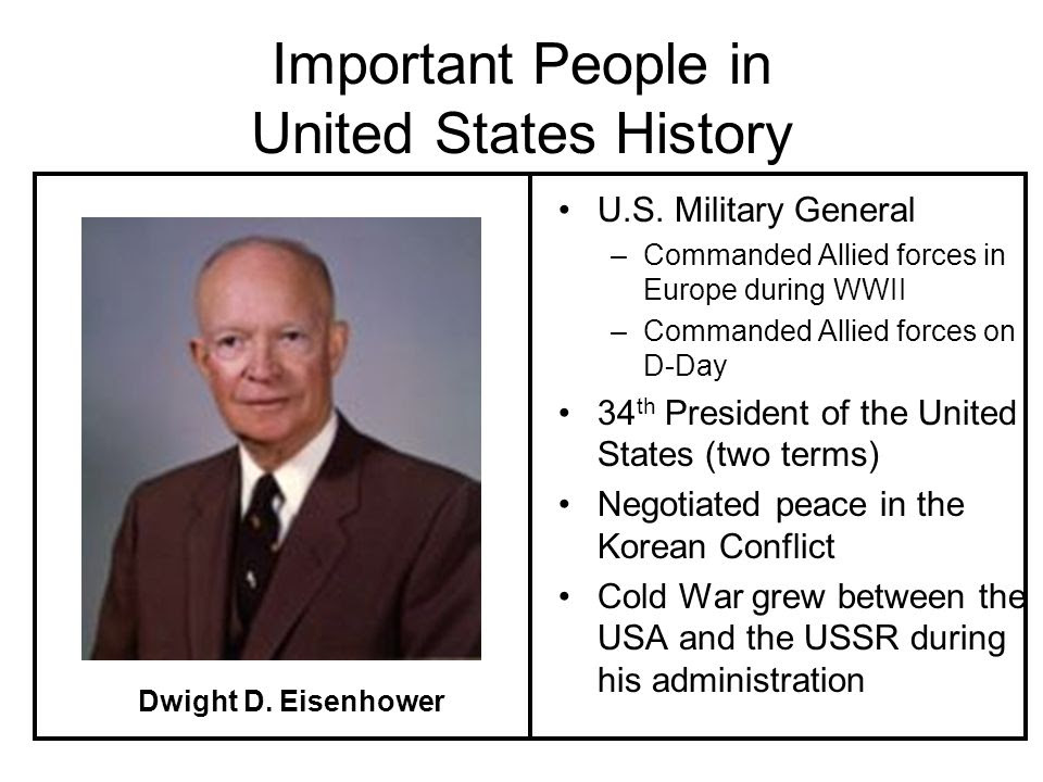 An Introduction To The Important People In The History Of The United