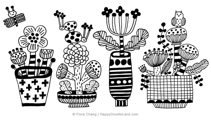 Potted Plants Sketch #3