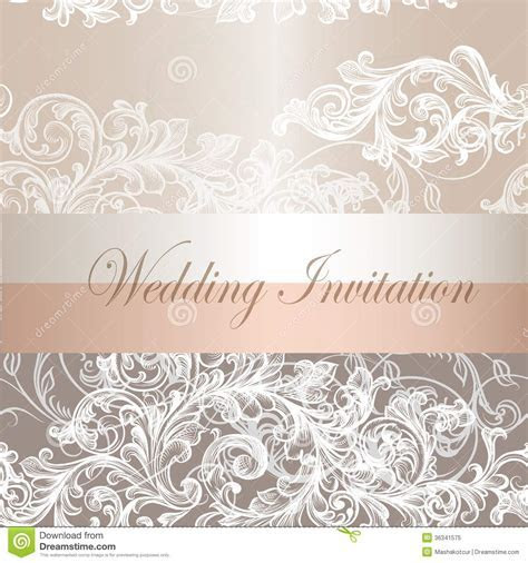 Wedding Invitation Card In Pastel Color Royalty Free Stock