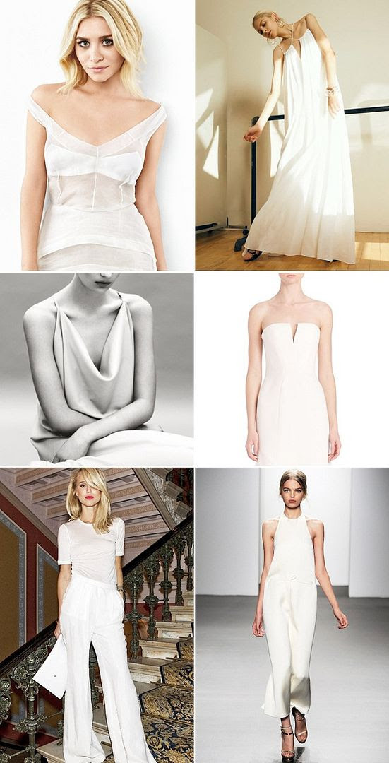 Le Fashion Blog Wedding Dress Minimal Alternative 90s inspired Style Ashley Olsen Silk Slip Dress Pants Elin Kling Rosetta Getty