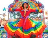 Upcycled Clothing Tutorial - Rainbow Sweater Coat - katwise