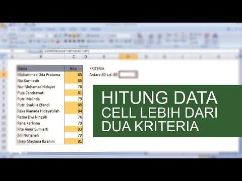 Cara Menghitung Data Range dengan Lebih Dari Dua Kriteria