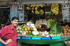Mumbai en Inde marché de fruit