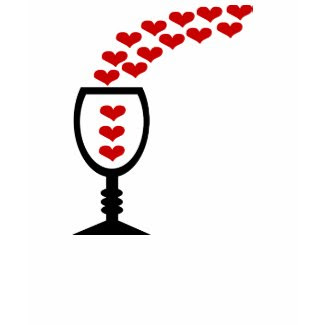Love Wine With Unusual Hearts & Wine Glass shirt