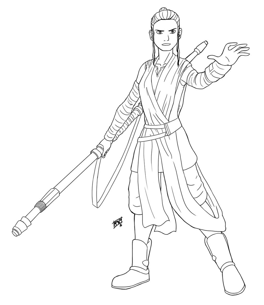 Star Wars Rey By Mono Phos On Deviantart Coloriage Star Wars 40