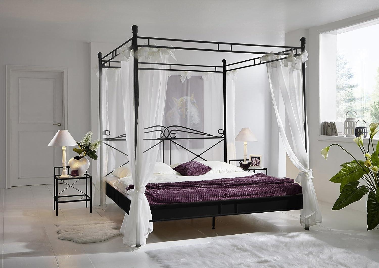 SAM® Design Himmelbett Venezia, schwarzes Metall-Bett, 180 ...