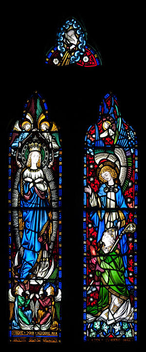 Stained glass window on the east side of the M...