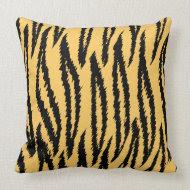 Tiger Print Pattern. Orange and Black. throwpillow