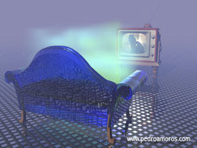 sofa y tele encantados - www.pedroamoros.com