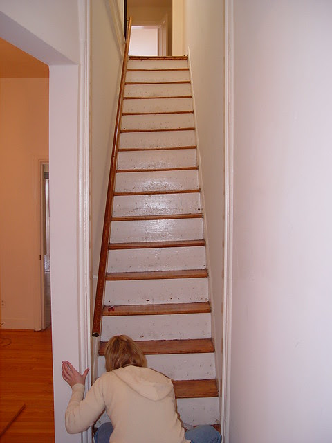 Hold On Tight Staircase Wainscoting And Handrail Project Old Town Home