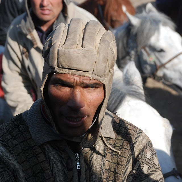 Buzkashi player