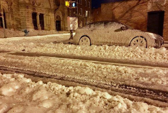 Efectos del actual invierno en la ciudad de Baltimore, Maryland. Foto de Erick Ferris/Twitter.